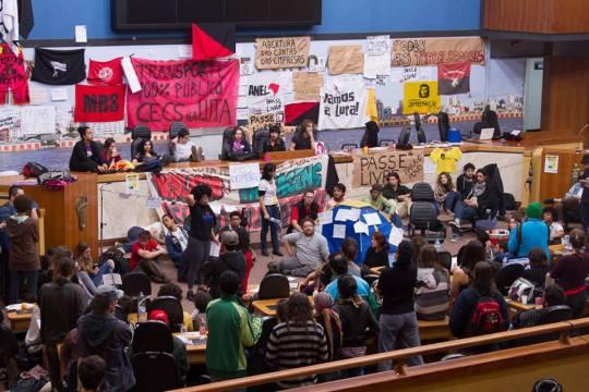Câmara de Vereadores de Porto Alegre ocupada, 10 de julho, Bloco de Luta pelo Transporte Público